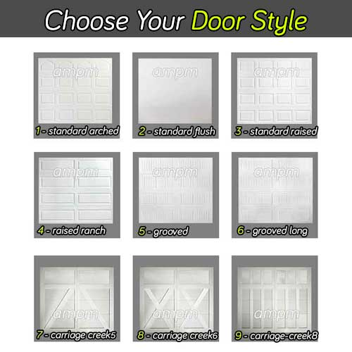 New garage door styles