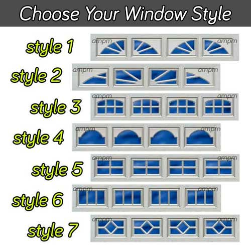 Choose your garage door window style